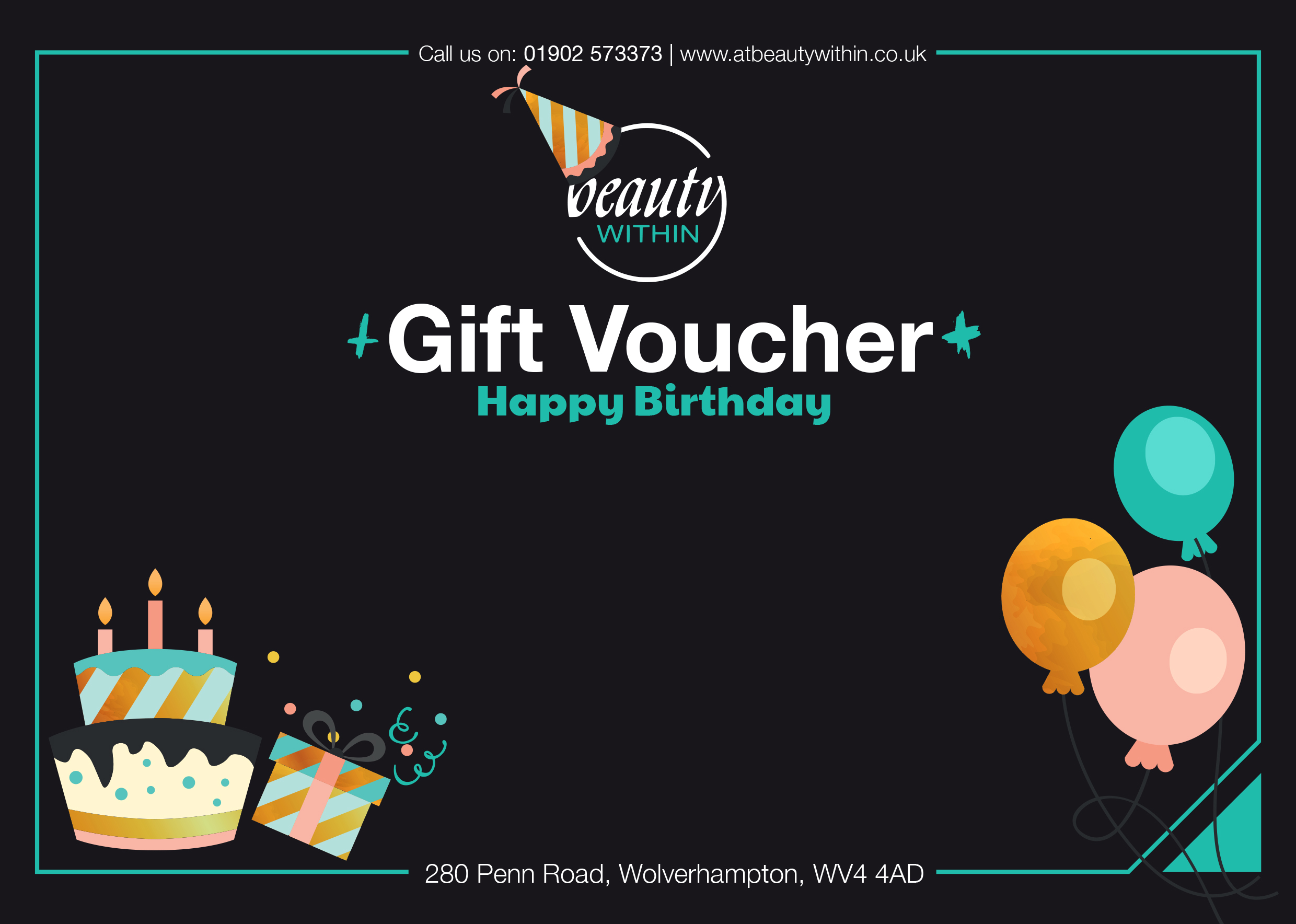 Birthday Gift Card For Beauty Within