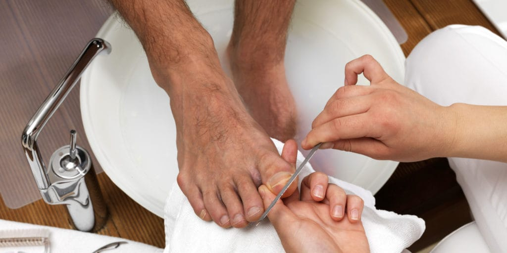 Pedicure for men