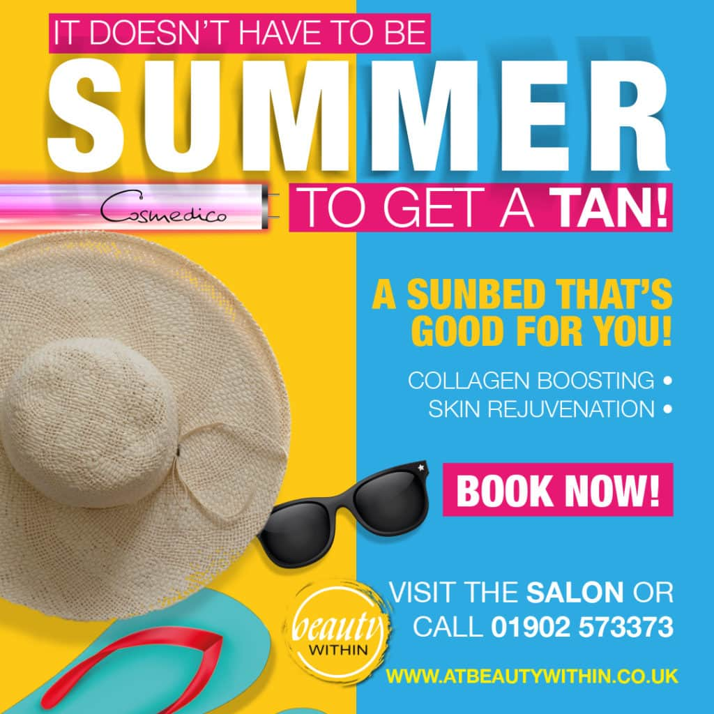 Sunbed Offers - Beauty Within - Cosmedico
