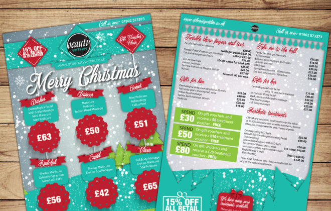 Christmas Pricelist